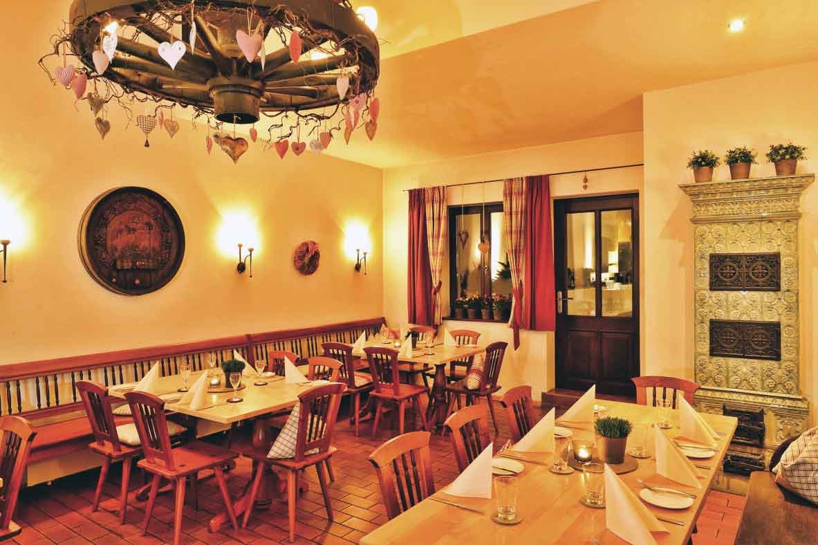 Wirtsstube des Restaurants Schuberts Weinstube